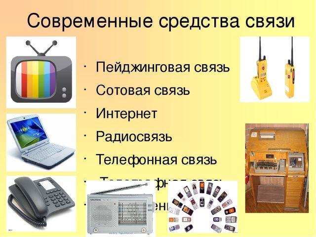Современные средства связи и их преимущества